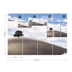 Two Trees Photo Wallpaper Mural