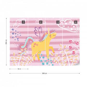 Ula la Unicornio - fototapet copii