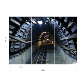 Underground Tunnel Photo Wallpaper Wall Mural