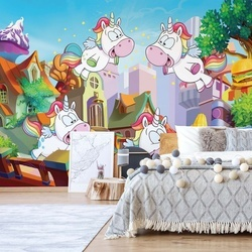 Unicorn Town Photo Wallpaper Wall Mural
