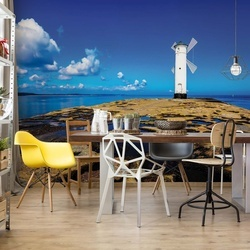 Windmill Facing Out To Sea Photo Wallpaper Wall Mural