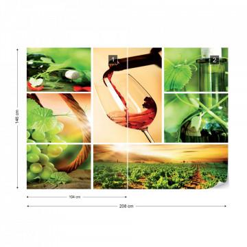 Wine Photo Wallpaper Wall Mural