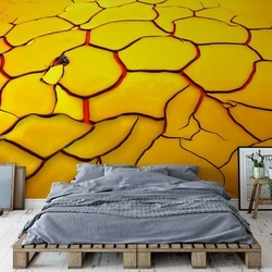 Yellow Ground, Red Heart Photo Wallpaper Mural