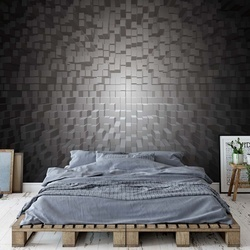 3D Black And White Modern Pixel Design Photo Wallpaper Wall Mural
