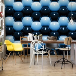 3D Blue And Black Ball Pattern Photo Wallpaper Wall Mural