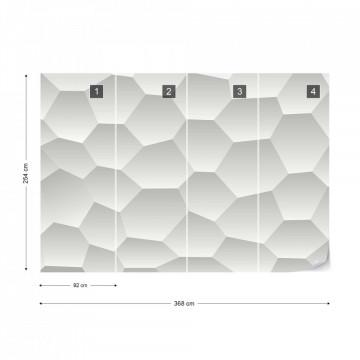 3D Honeycomb Texture Grey Photo Wallpaper Wall Mural