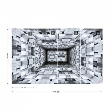3D Modern Design Tunnel Photo Wallpaper Wall Mural