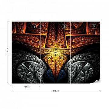 3D Norse Tribal Design Photo Wallpaper Wall Mural