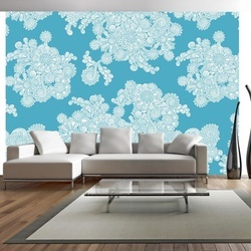 Fototapet - Flowery clouds