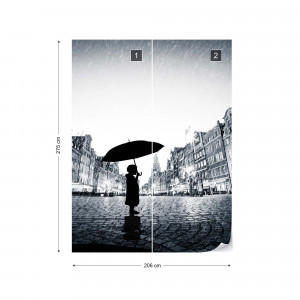 Alone In The Square Photo Wallpaper Wall Mural