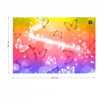 Butterflies Sparkles Photo Wallpaper Wall Mural