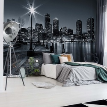 City Skyline Boston Photo Wallpaper Wall Mural