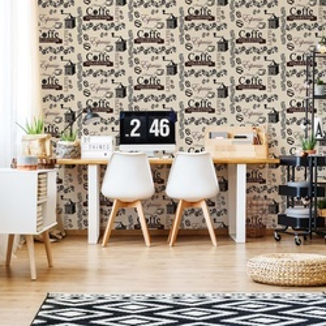 Coffee Pattern Brown Photo Wallpaper Wall Mural