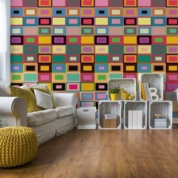 Colourful Abstract Pattern Photo Wallpaper Wall Mural