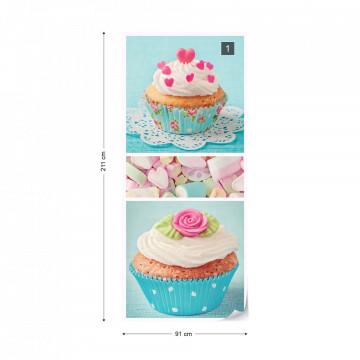 Cupcakes Photo Wallpaper Wall Mural