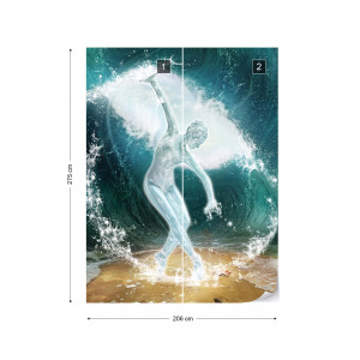 Dancer Parting Waves Photo Wallpaper Wall Mural