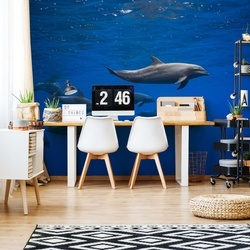 Dolphins Photo Wallpaper Mural