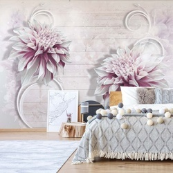 Flowers Modern Design Photo Wallpaper Wall Mural
