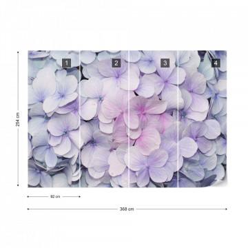 Flowers Pastel Purple Hydrangeas Photo Wallpaper Wall Mural
