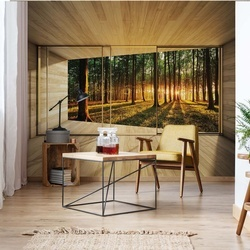 Forest 3D Modern Window View Photo Wallpaper Wall Mural
