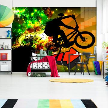 Fototapet autoadeziv - Bicycle Tricks