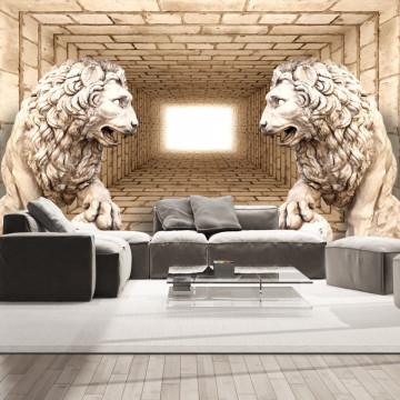 Fototapet autoadeziv - Mystery of lions