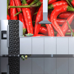 Fototapet - chili pepper - background