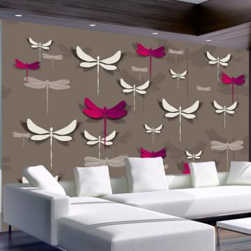 Fototapet - Dancing dragonflies