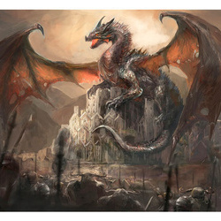 Fototapet - Dragon castle