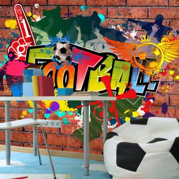 Fototapet - Football fans!