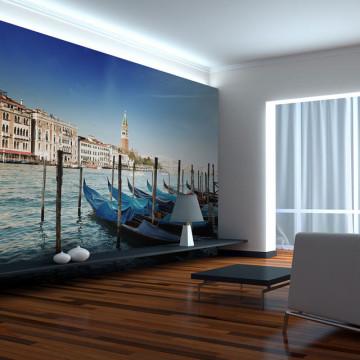 Fototapet - Gondolas and St Mark's Campanile, Venice