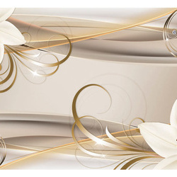 Fototapet - Lilies and The Gold Spirals