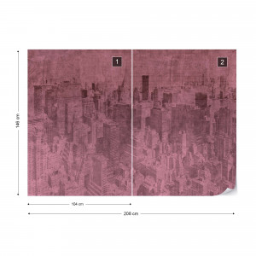 Fototapet - New York City – Efect Grafic Violet