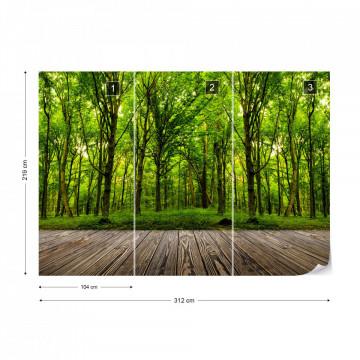 Fototapet - Pădure Verde Crud