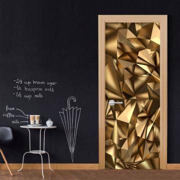 Fototapet pentru ușă - Photo wallpaper - Golden Geometry I
