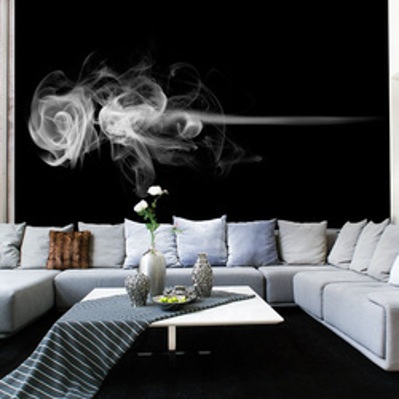 Fototapet - rose (smoke)