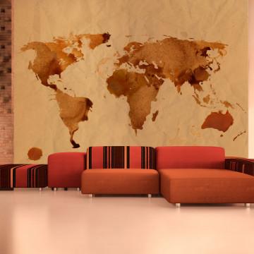 Fototapet - Tea map of the World