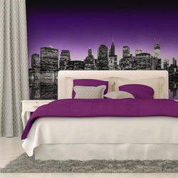 Fototapet - The Big Apple in purple color
