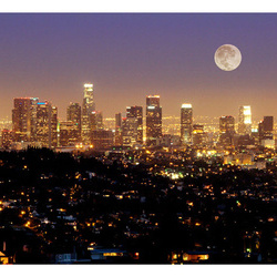 Fototapet - The moon over the City of Angels