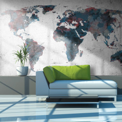 Fototapet - World map on the wall