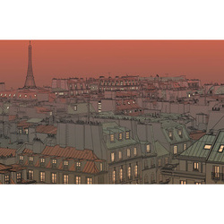 Fototapet XXL - Afterglow over Paris