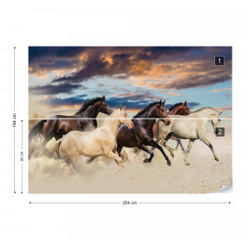 Galloping Horses Photo Wallpaper Wall Mural
