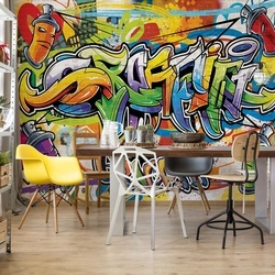 Graffiti Photo Wallpaper Wall Mural