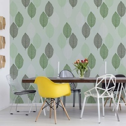 Green Leaves Pattern Photo Wallpaper Wall Mural