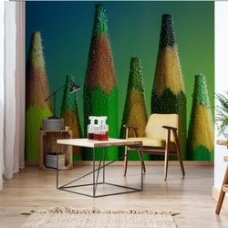 Green Photo Wallpaper Mural