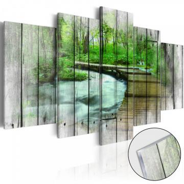 Imagine pe sticlă acrilică - Forest of Secrets [Glass]