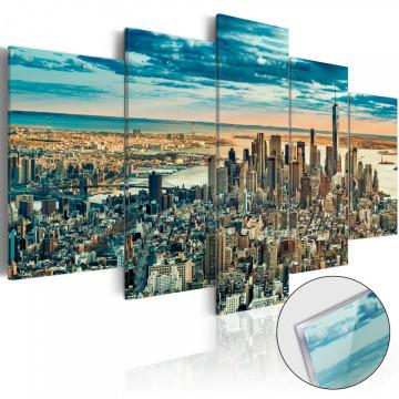 Imagine pe sticlă acrilică - NY: Dream City [Glass]