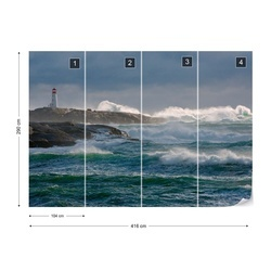 In The Protection Of A Lighthouse Photo Wallpaper Mural