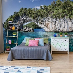 Island Sea Photo Wallpaper Wall Mural