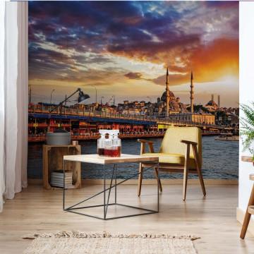 Istanbul City Sunset Photo Wallpaper Wall Mural